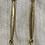 Thumbnail: Aquamarine and Gold Earrings