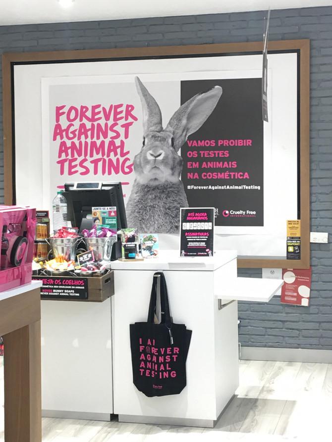Não aos testes em animais na cosmética