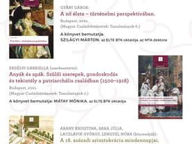 A Lendület Családtörténeti Kutatócsoport legújabb köteteinek bemutatója!