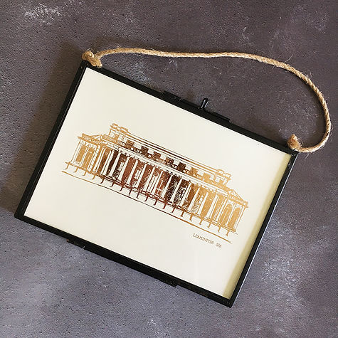 Framed Pump Rooms Foil Print