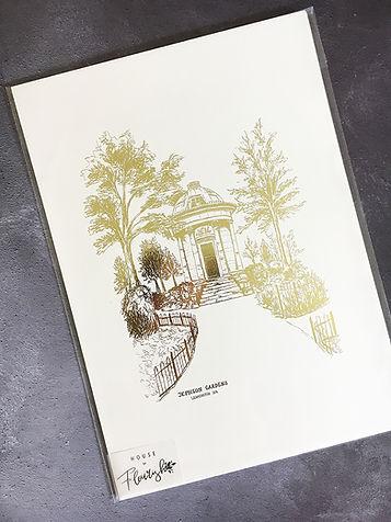 Jephson Gardens Foil Print