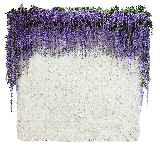 Wisteria-Purple-Ivory-rosses-flowers-wal