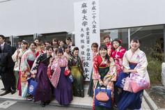 卒業式/袴で集合写真