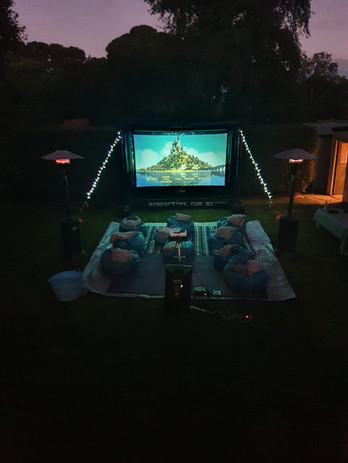 Wow parties inflatable cinema hire melbourne