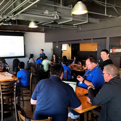 Alumni Presenting to TSA Members at Fall Leadership Conference
