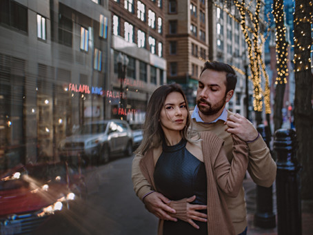 Boston downtown photo session || Boston Engagement photographer