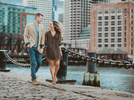 Luiza and Rick || Seaport District || Boston engagement photographer