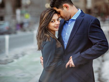 Varsha and Abhishek || Boston engagement photographer
