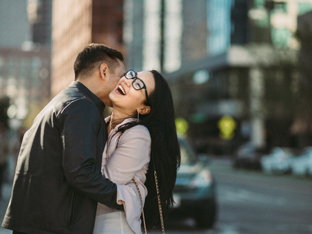 Ross & Aygul || Engagement photo session || Boston MA