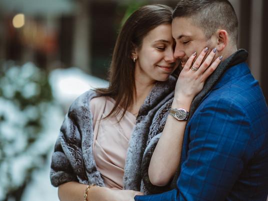 Couple photo session in Boston Downtown || Boston engagement photographer