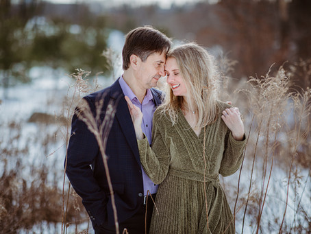 Winter couple photo session || Boston engagement photographer
