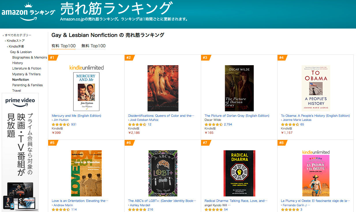 Japan June 2020 - Gay and Lesbian nonfiction