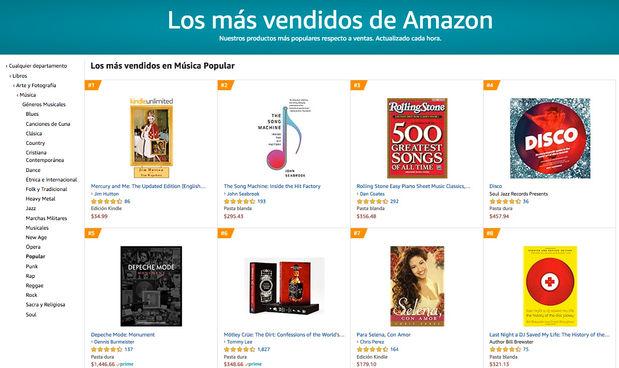 Mexico 2020 - Los mas vendidos en Musica Popular