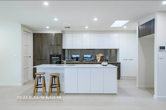 Kitchen  Project:  Spec Home Suburb:  Coombs, ACT Year:  2017  Exterior paint and fixed materials (except brick and roof) and entire interior colour palette.