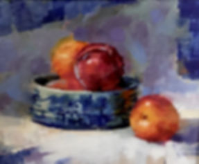Pluots in Wedgewood by Becky Parrish