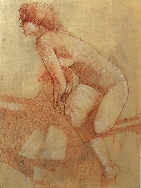 Conte Nude by Web Bryant