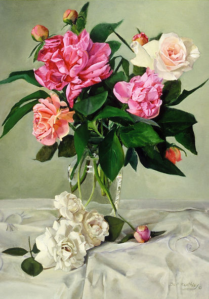 Peonies and Roses by Dell Keathley