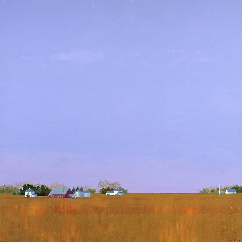 Amber Fields at Dusk by Ellen Delaney