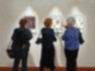 Three Women at the MFA by Susan La Mont