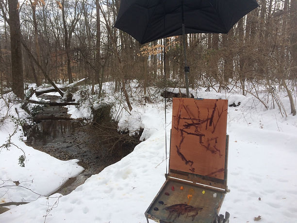 Painting in process - Robert Thoren