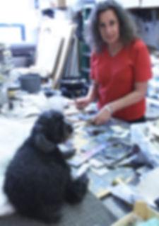 Laurie Fields in studio