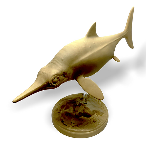 Ophthalmosaurus (Ichthyosauria) figurine (1:25 scale) - paintable kit