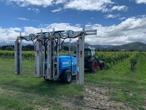Targeted spray application for precise viticulture growth