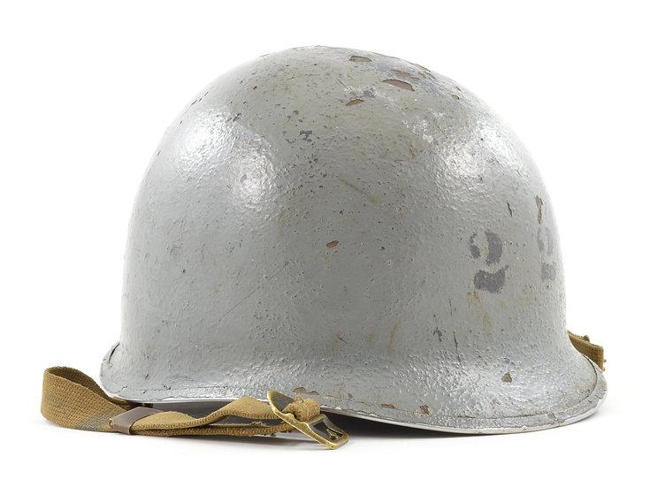 WWII Navy Painted Fixed Loop M1 Helmet & Westinghouse Liner Set