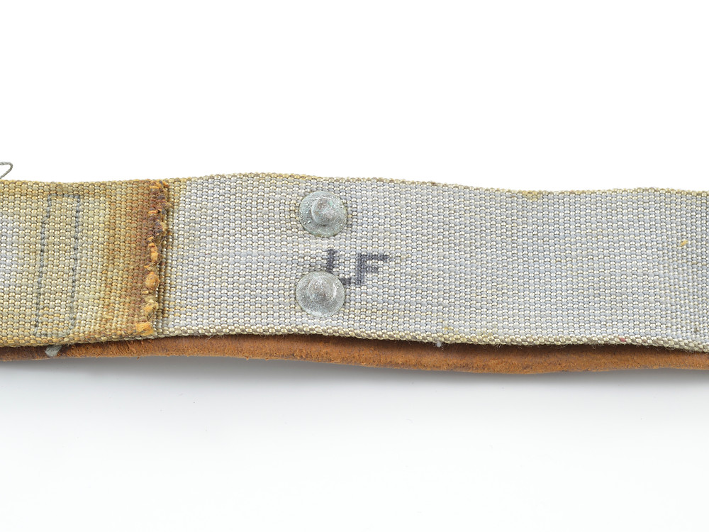 WW2 Rayon Sweatband LF Marking