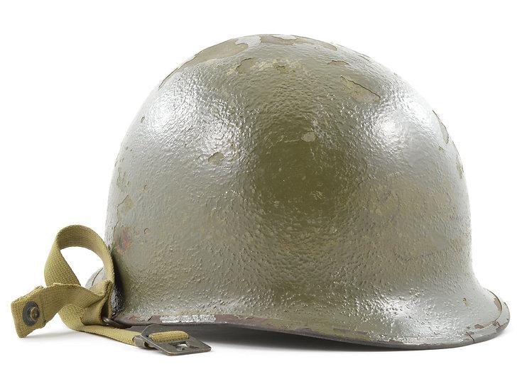 WWII M1-C Airborne Paratrooper Front Seam Helmet Shell (November 1944)