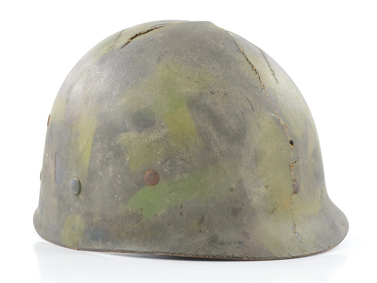 WWII Westinghouse M1 Helmet Liner (Factory-Applied Jungle Camouflage)