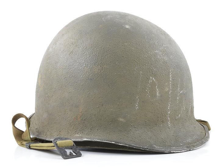 Mid-WWII Fixed Loop M1 Helmet & Westinghouse Liner (1943 Set)
