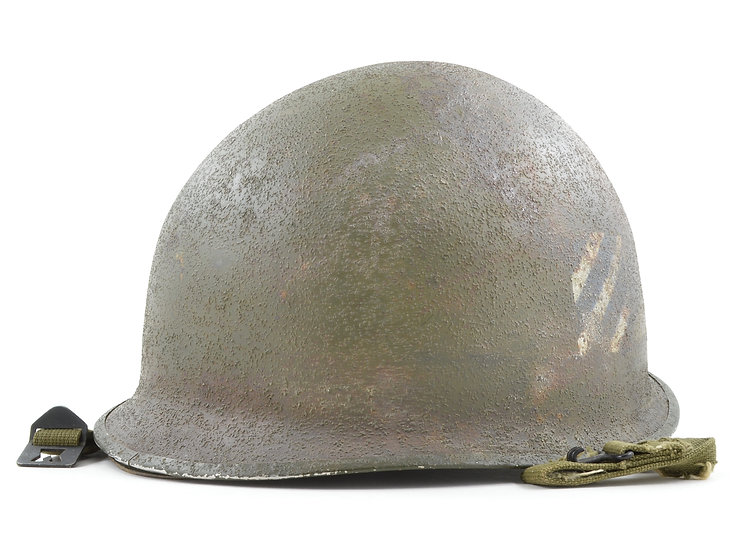 3rd Infantry Division Painted Mid-WWII Helmet & Liner Set