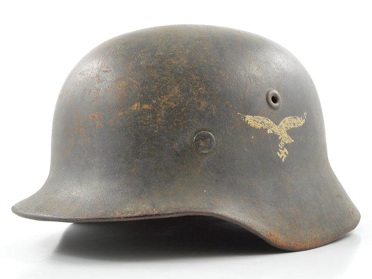 WWII German M40 Luftwaffe Helmet & Liner Set (NS68)