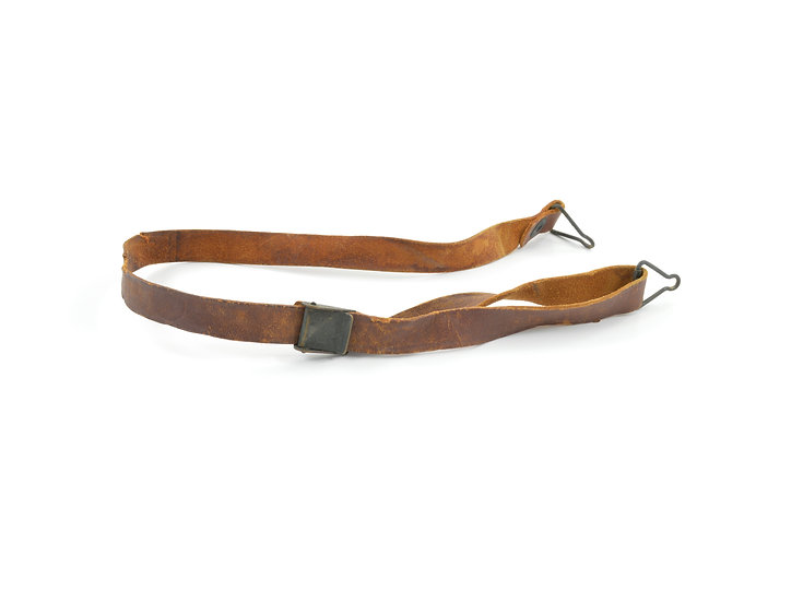 Original WW2 Leather Liner Strap With Black Brass Buckle For Sale