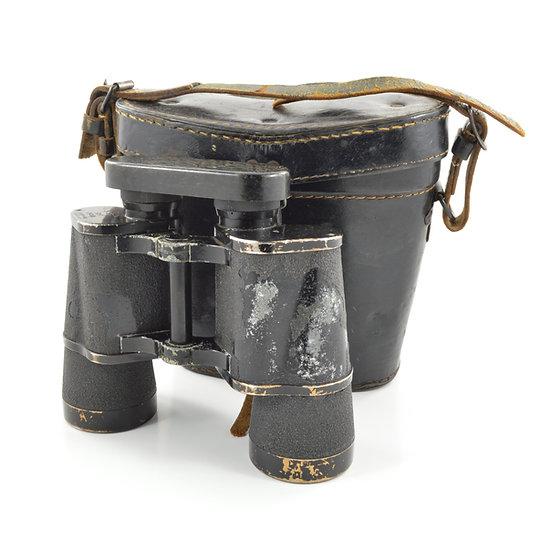Original WW2 German Dienstglas 10x50 Carl Zeiss Binoculars With Leather Case For Sale