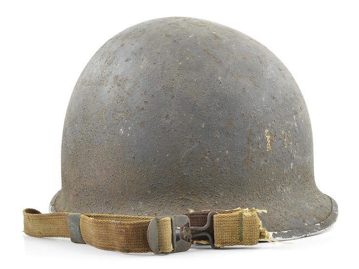 WWII Navy Painted Fixed Loop McCord M1 Helmet Shell (August 1942)