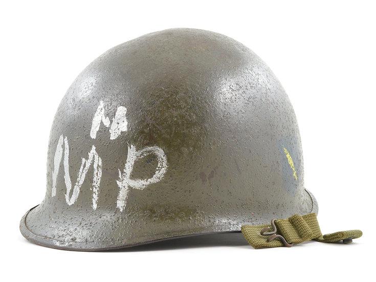 WWII 82nd Airborne, 504th PIR, M1-C Paratrooper Helmet Shell (November 1944)