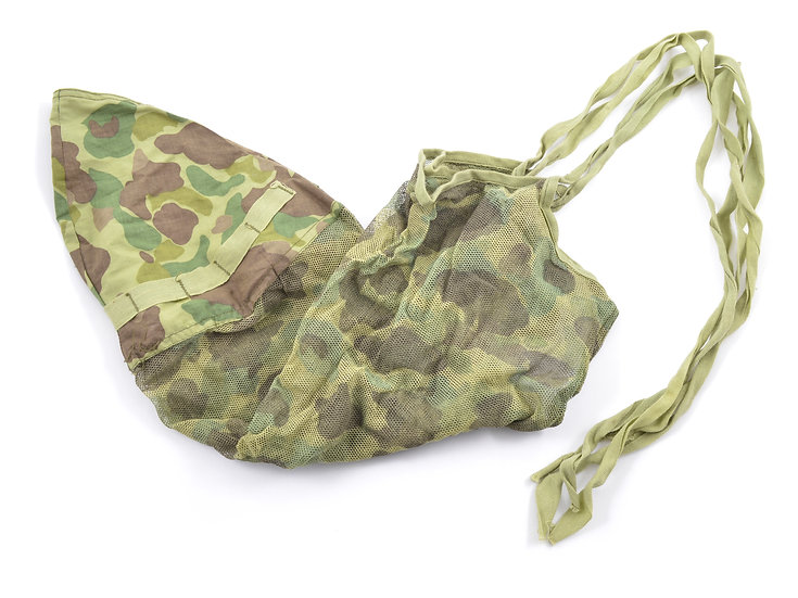 Early-WWII USMC Camouflage Mosquito Net Helmet Cover (Type A)