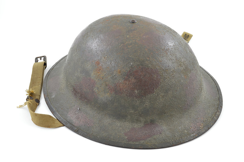 Camouflaged Pre-WWII Converted M1917A1 Helmet (WWI-Era Shell)