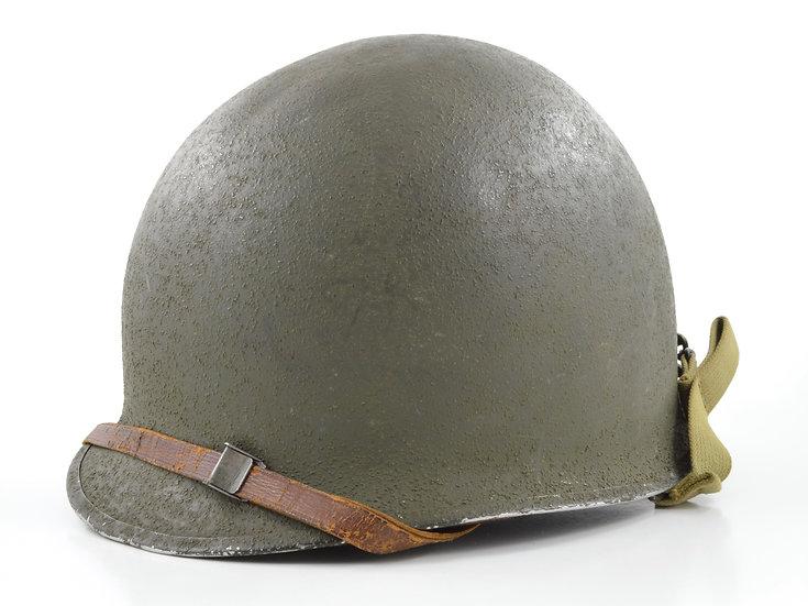 Original WW2 Fixed Loop M1 Helmet & Westinghouse Liner Set For Sale