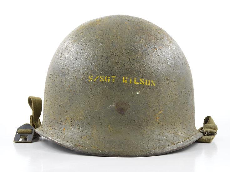 Late-WWII McCord Swivel Loop M1 Helmet & Westinghouse Liner (1945 Set)