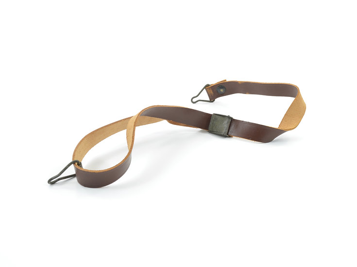Original WW2 Leather Liner Strap With Green Steel Buckle For Sale