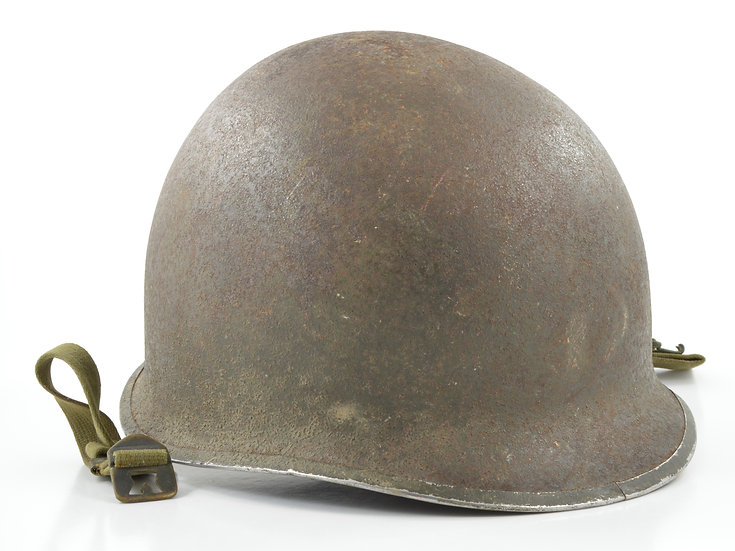 Original Early-WWII Fixed Loop McCord M1 Helmet Shell (Mid-1941) For Sale