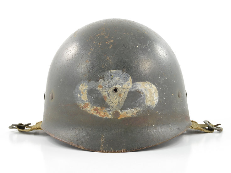 Late-WWII Westinghouse Airborne Paratrooper M1-C Helmet Liner (504th PIR)