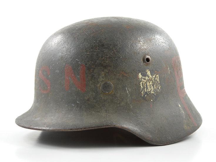 WWII German M35 DAK Heer Souvenir Helmet & Liner Set (NS66)