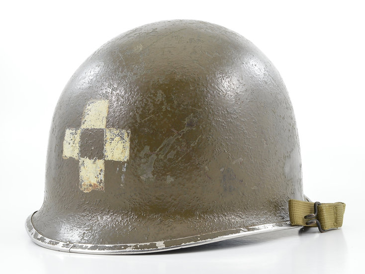 WWII Fixed Loop Schlueter Medic's M1 Helmet Shell (Mid-1943)