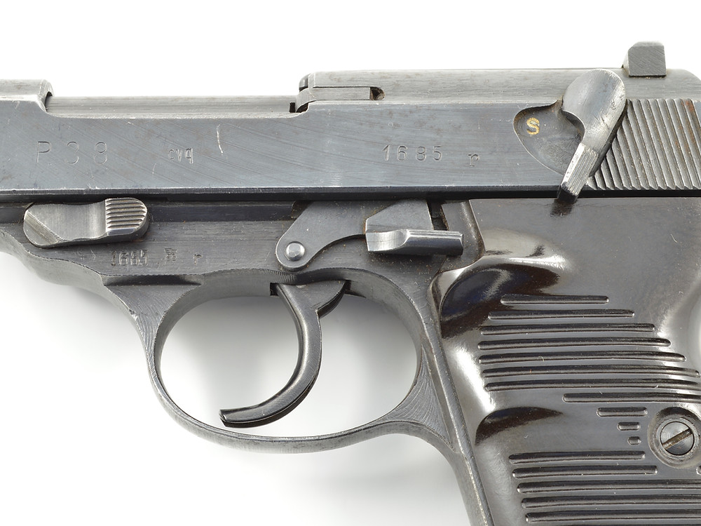 """A Spreewerk P.38 with the apparent """"cvq"""" marking."""