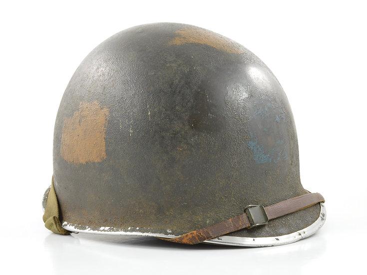 Original Mid-WW2 D-Day Invasion ESB Fixed Loop M1 Helmet & Firestone Liner Set