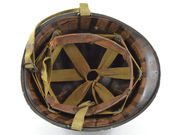 Original WW2 Fixed Loop M1 Helmet & Inland Liner (1942 Set) For Sale